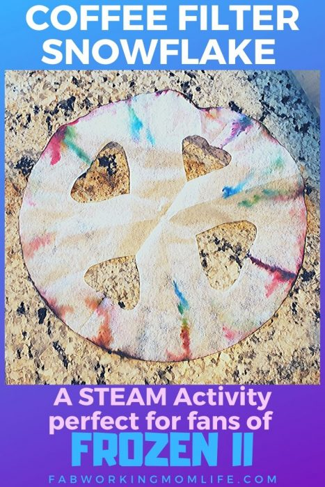 COFFEE FILTER SNOWFLAKE STEAM Activity perfect for fans of Frozen II