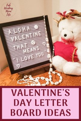 Valentines day letter board ideas