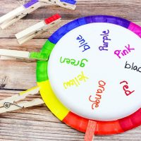 Rainbow Wheel Color Matching Game for Toddlers & Preschoolers
