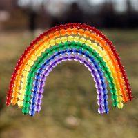 Fused Bead Rainbow Suncatcher Craft for Kids