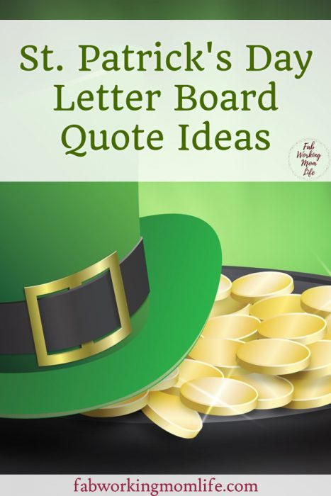 St Patrick''s Day Letter Board Quote Ideas