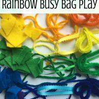 Rainbow Busy Bag Fine Motor Play