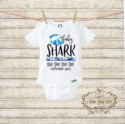 baby shark due due due date pregnancy announcement