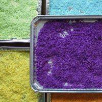 How to make a Rainbow Rice Sensory Bin