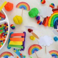 Rainbow Play Dough Free Printables