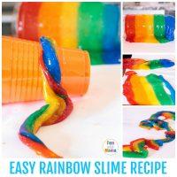Super Easy Rainbow Slime Recipe