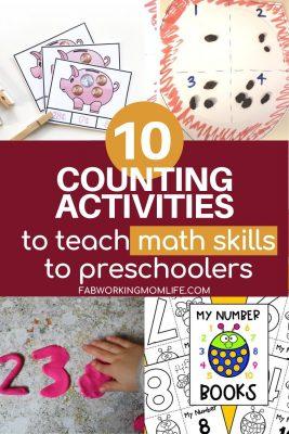 10 counting activities for preschoolers