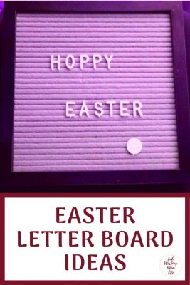Easter Letter Board Ideas