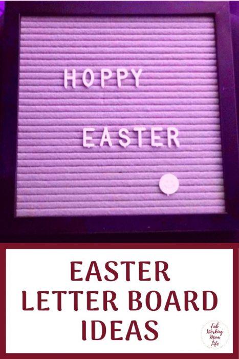 Easter Letter Board Ideas