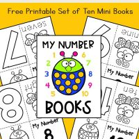 My Numbers Mini Books: Set of 10 Bug Mini Books (Free Printable)