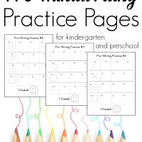 Pre-writing Pages for Preschool and Kindergarten