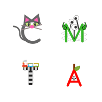 Free Printable Letter Crafts (Just Print, Cut And Paste!) |