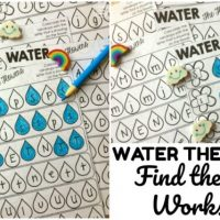 Water the Flowers! Find the Letter Worksheets