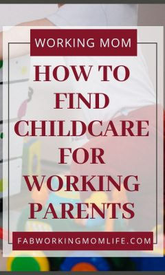 how to find childcare for working parents
