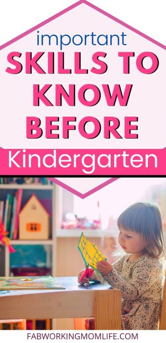 important skills to know before kindergarten