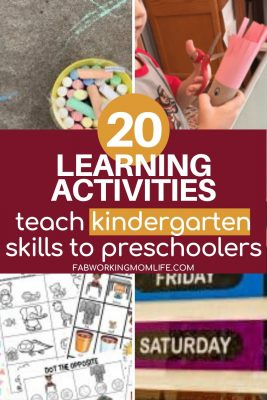 learning activities teach kindergarten skills to preschoolers
