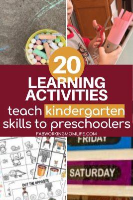 learning activities teach kindergarten skills to preschoolers