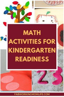math activities for kindergarten readiness