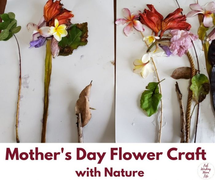 Mother's day flower craft with nature