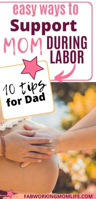 how dad can support mom during labor and birth