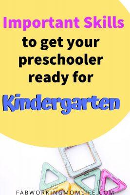 important skills to get your preschooler ready for kindergarten