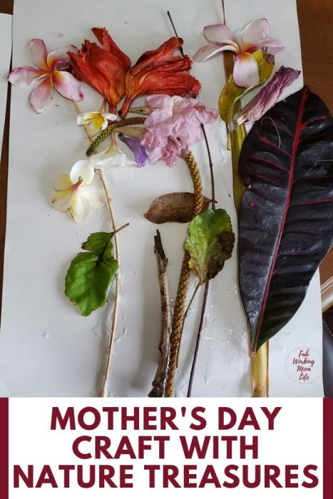 mothers day craft with nature treasures