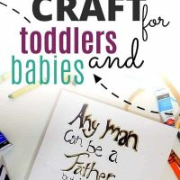 Father's Day DIY Canvas Hand Painting Craft For Kids – Cenzerely Yours