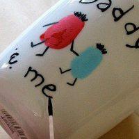 Father's Day Mug: Daddy & Me Fingerprint Coffee Cup