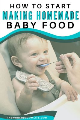 how to start making homemade baby food