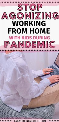working from home with kids during pandemic