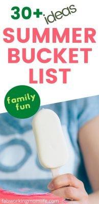 30+ ideas for your summer bucket list