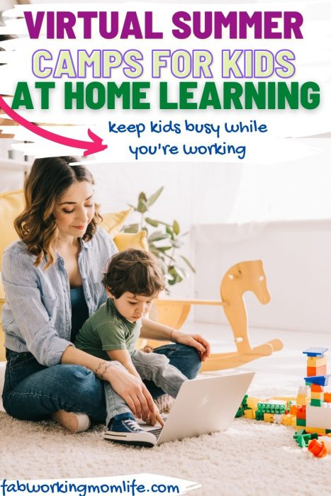 virtual summer camps for kids at home learning