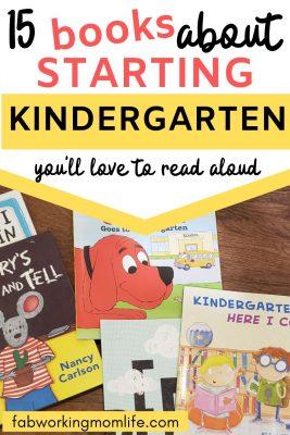 15 books about starting kindergarten