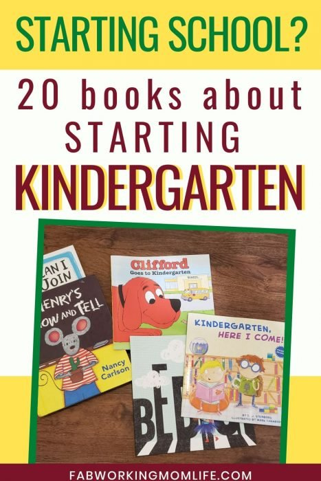 20 books about starting kindergarten