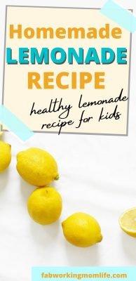 healthy homemade lemonade recipe
