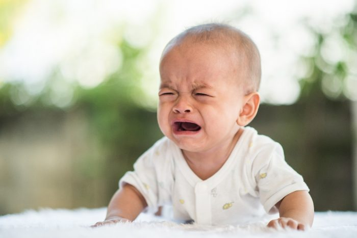 baby crying - constipation in babies