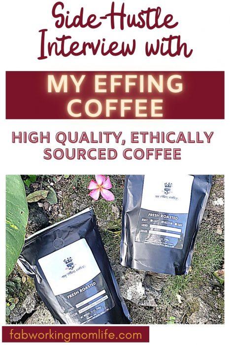 side hustle effing coffee brand