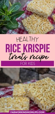 healthy rice krispie treats recipe for kids
