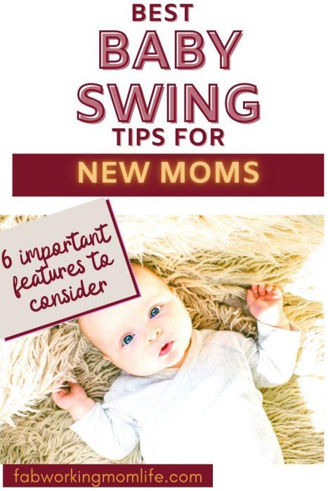 best baby swing tips for new moms