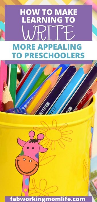 learning to write for preschoolers