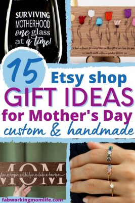 Etsy Mother's Day Gift Ideas - unique custom handmade