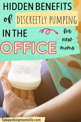hidden benefits of discreetly pumping at the office