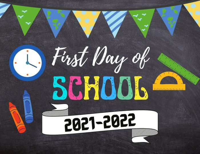 first day of school printables free chalkboard