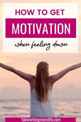 motivation when feeling down