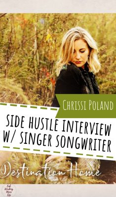 side hustle interview with singer songwriter and drummerChrissi Poland