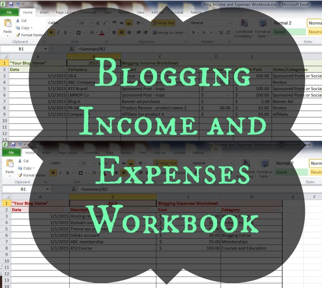 Blog Income and Expenses Workbook | Fab Working Mom Life #bloggingtips #workingmom #income #budget